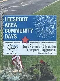 Leesport Area Community Days September 8th 5-10pm and 9th 4-10pm