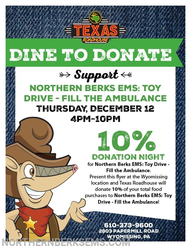 Print and bring this flyer with you to the event and 10% of your food purchases will be donated to The Children's Home of Reading!